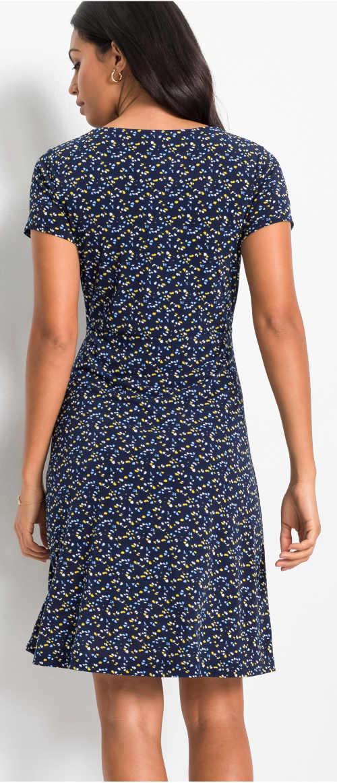 Levné modré letní volnočasové šaty