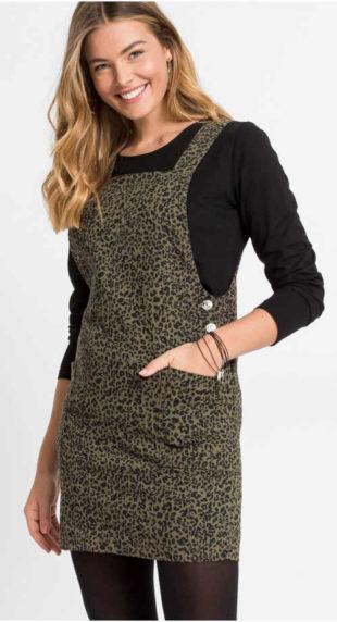 Šaty s laclem a leopardím potiskem