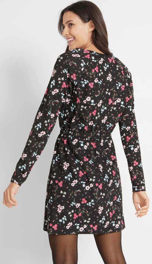 Šaty s květinovým potiskem Bonprix