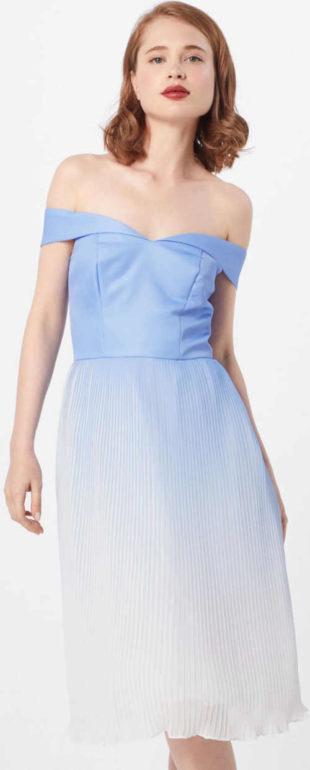 Koktejlové šaty s plisovanou sukni