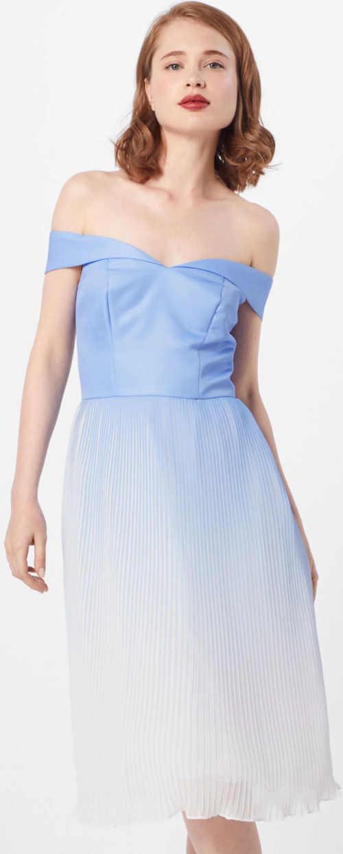 Koktejlové šaty s plisovanou sukní