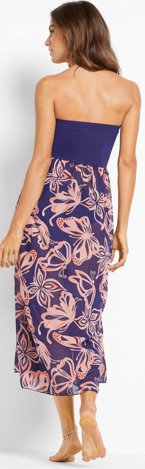 Dlouhé letní šaty s lehkou šifonovou sukní