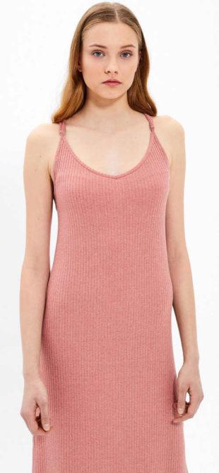 Dlouhé letní žebrované šaty