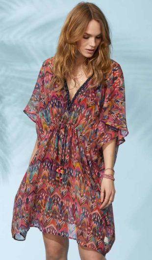Dámské plážové šaty v pestrobarevném provedení