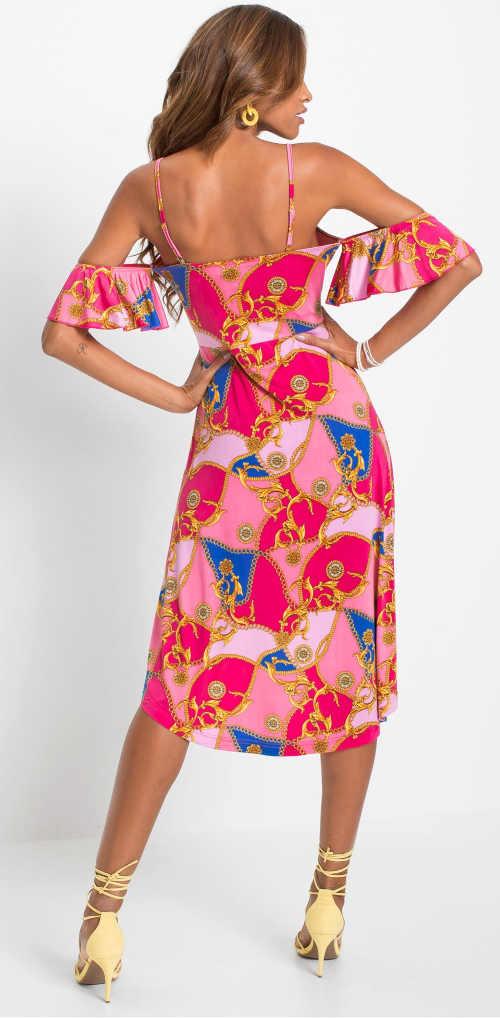 Dámské šaty s interesantním barevným provedením a střihem
