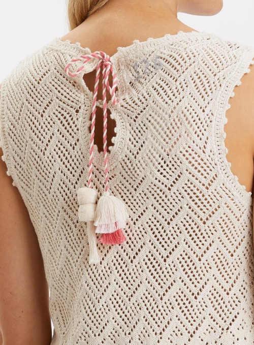 Háčkované dámské letní šaty