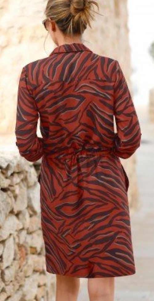 Košilové dámské šaty barevné