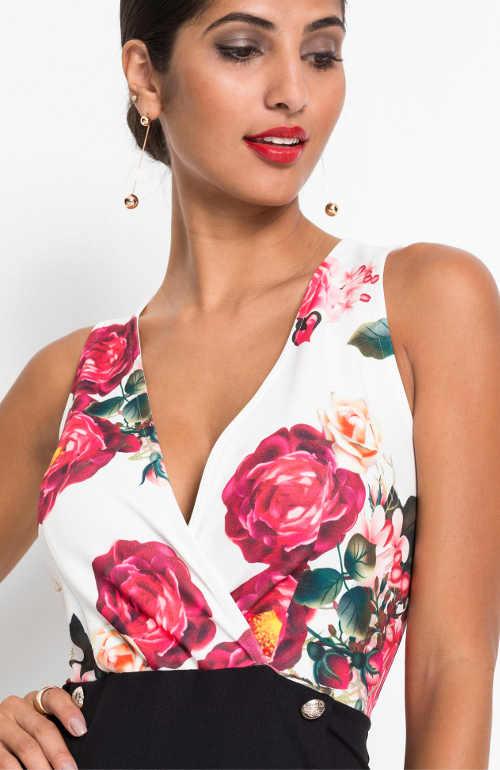 Letní dámské krátké šaty ve dvou barvách