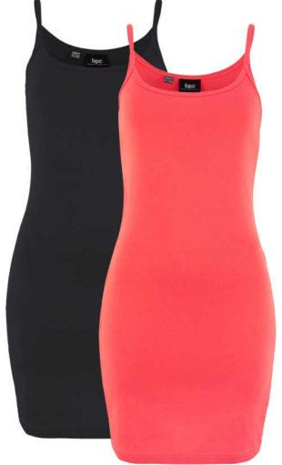 Letní šaty se špagetovými ramínky ve výhodném balení 2 ks
