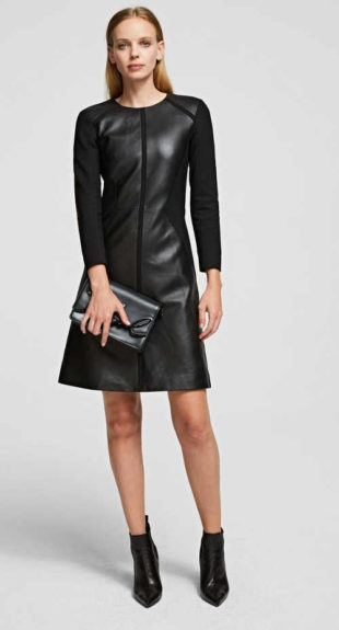Luxusní kožené dámské šaty pro výjimečnou událost
