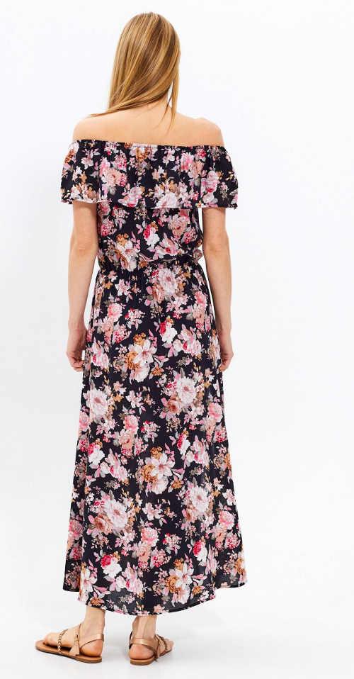 Maxi květinové šaty na léto