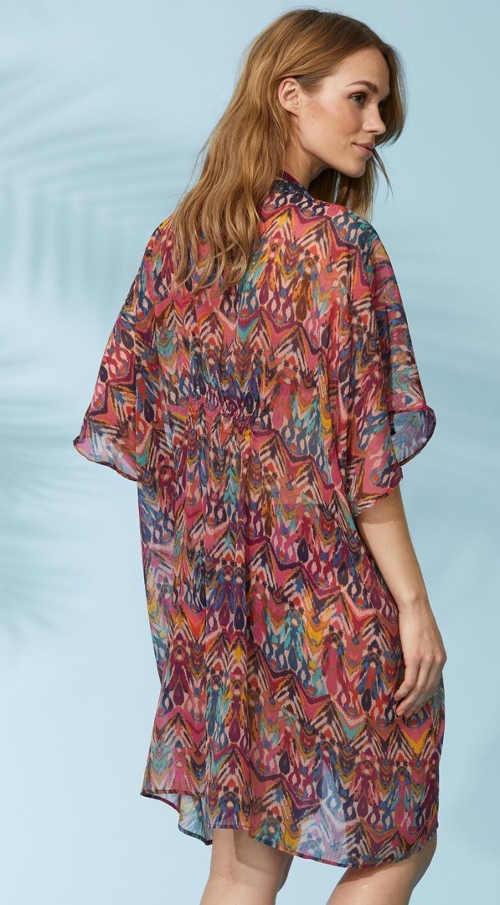 Pestrobarevné plážové dámské šaty