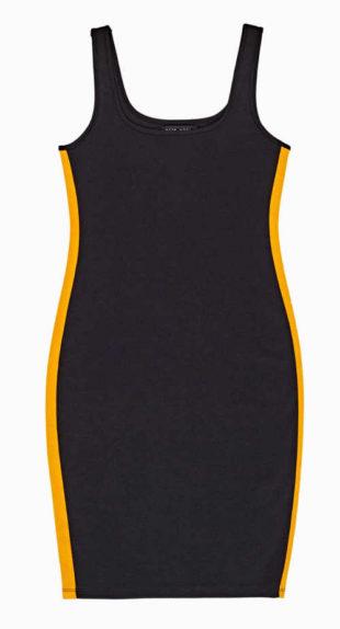Pouzdrové šaty ozdobené bočním pruhem nejen na léto
