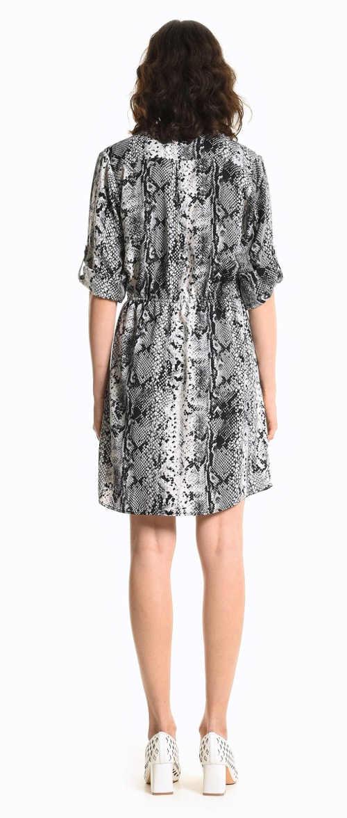 Šaty dámské se zvířecím vzorem