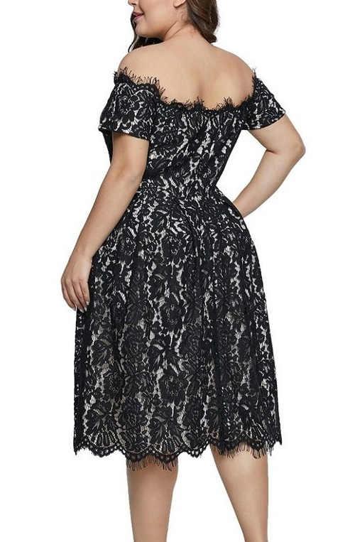 Společenské černé krajkové šaty