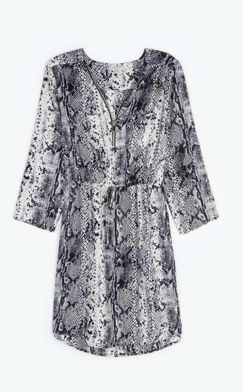Vzorované stylové dámské šaty