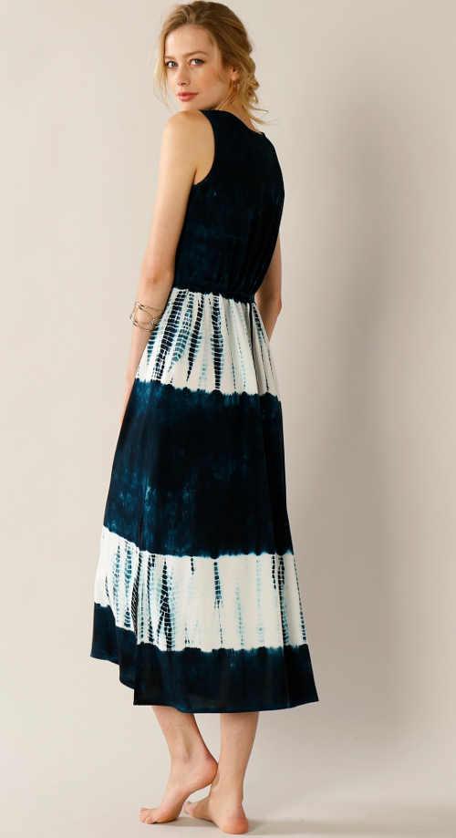 letní dlouhé batikované šaty