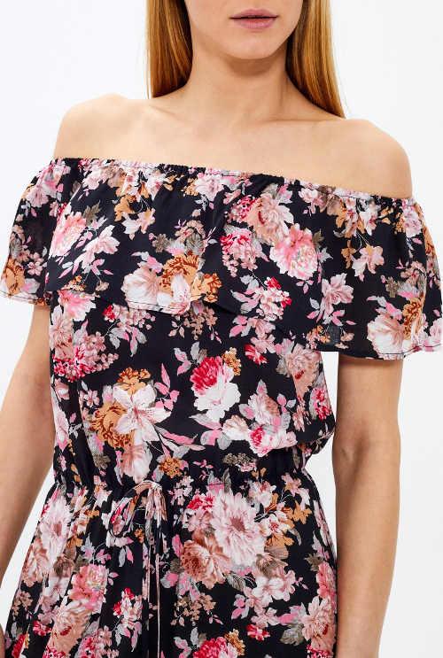 letní maxi květované šaty
