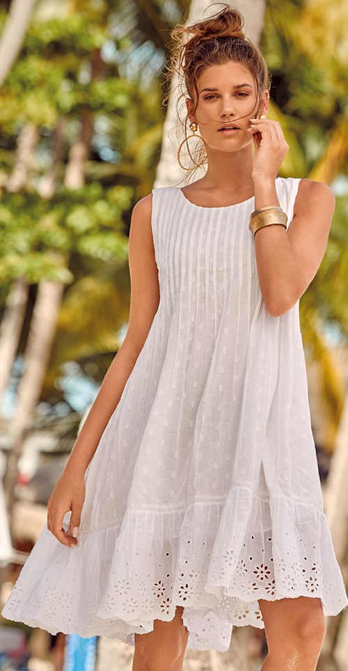 Bílé vzdušné plážové šaty Astratex Bali