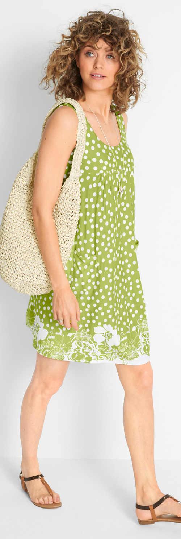Dámské letní šaty zelená limetková barva