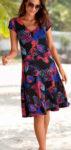Květované áčkové dámské letní šaty výprodej