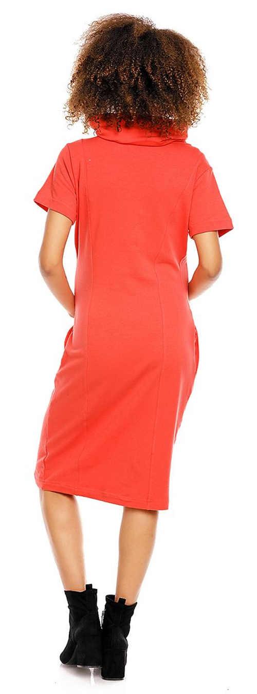 Pohodlné těhotenské jednobarevné midi šaty