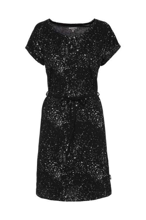 Bavlněné šaty na léto v černé či bílé barvě