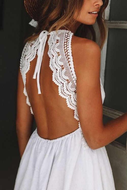 Dámské letní šaty v délce nad kolena