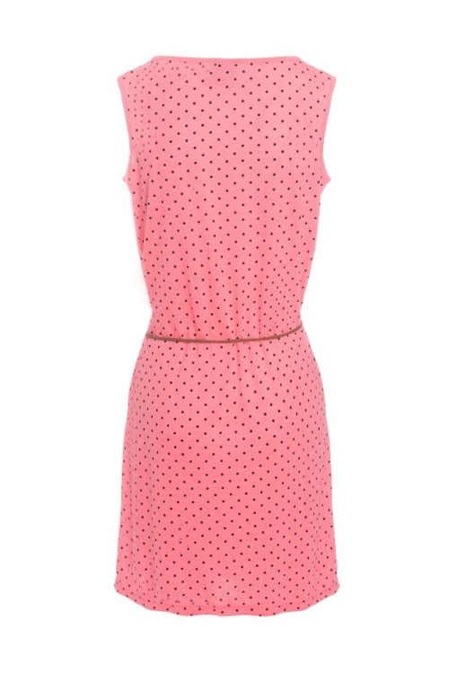 Dámské šaty v růžovém provedení s moderním puntíkem