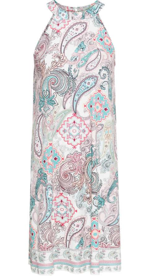 Letní šaty z chladivého materiálu v impozantním nadčasovém střihu