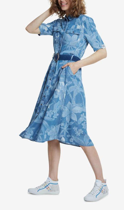Moderní košilové šaty s květovaným vzorem