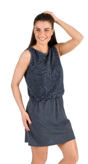 Praktické letní šaty bez rukávů s efektivním pružným pasem