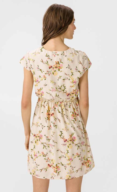 Šaty s knoflíkovou légou a květinovým vzorem