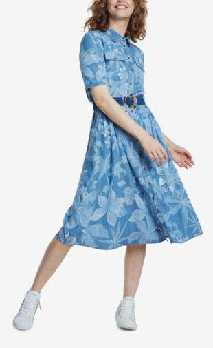 Stylové dámské šaty košilového střihu s páskem od Desigual