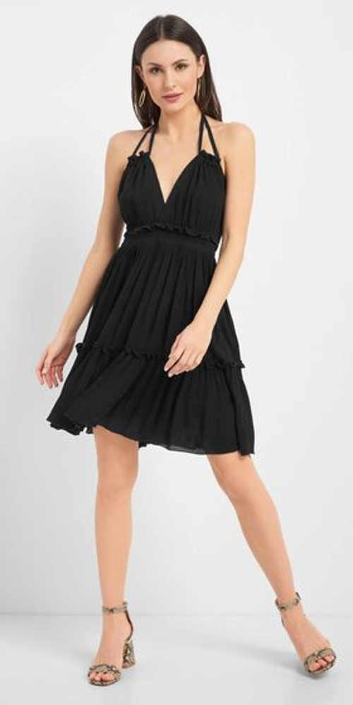 Stylové šaty v bílém a černém provedení bez rukávů