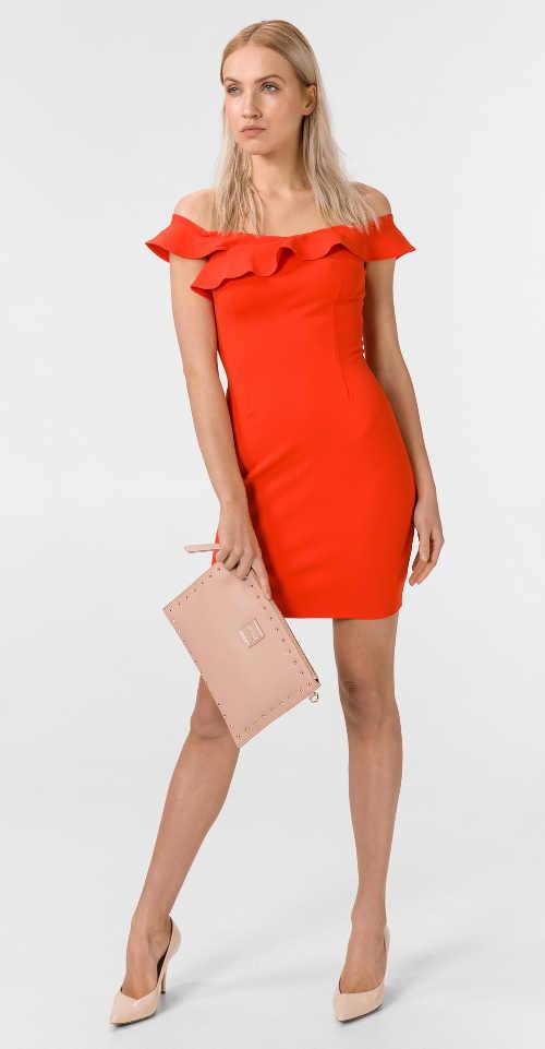 elegantní šaty Guess do společnosti