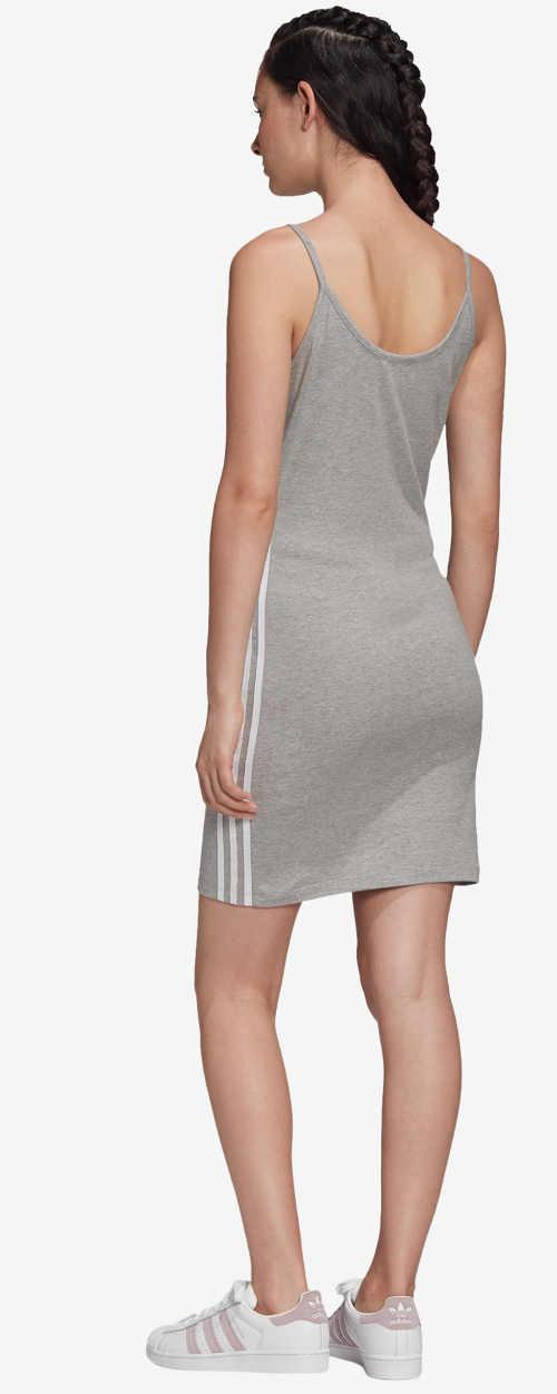 Moderní šaty na špagetová ramínka
