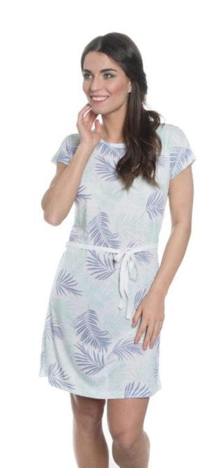 Stylové letní šaty s krátkým rukávem v délce nad kolena