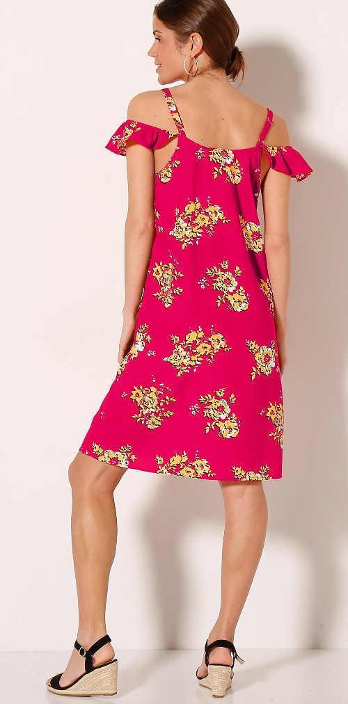 moderní letní šaty s květinovým potiskem