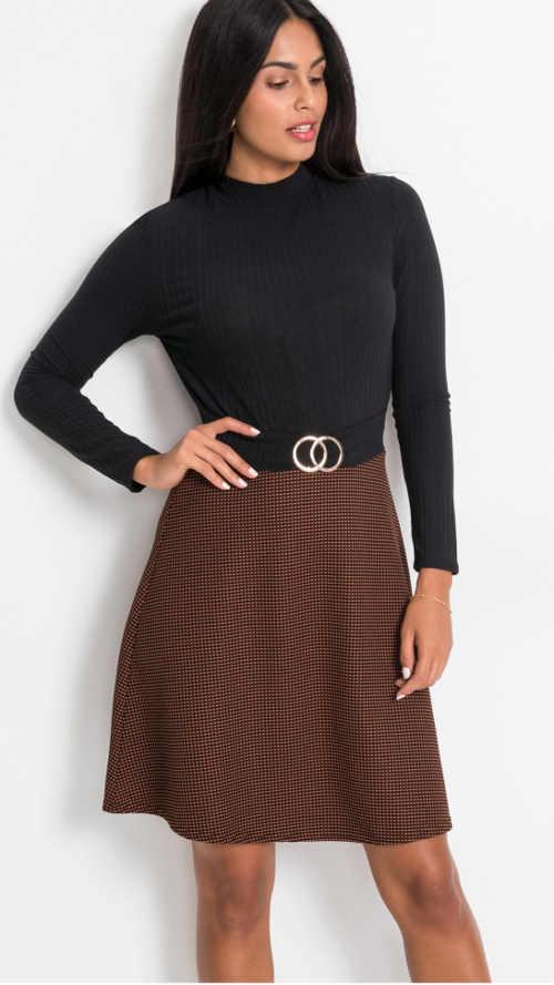 moderní šaty s rolákovým vrškem