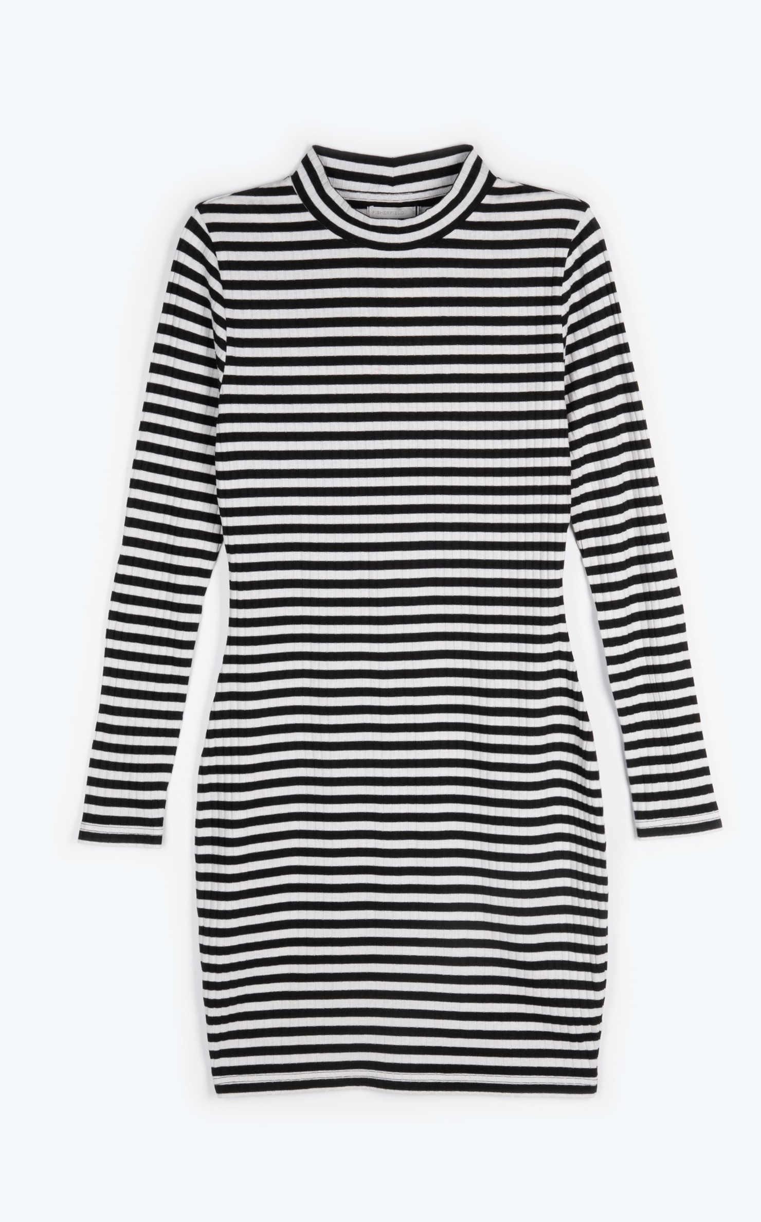 moderní šaty v černo-bílém provedení