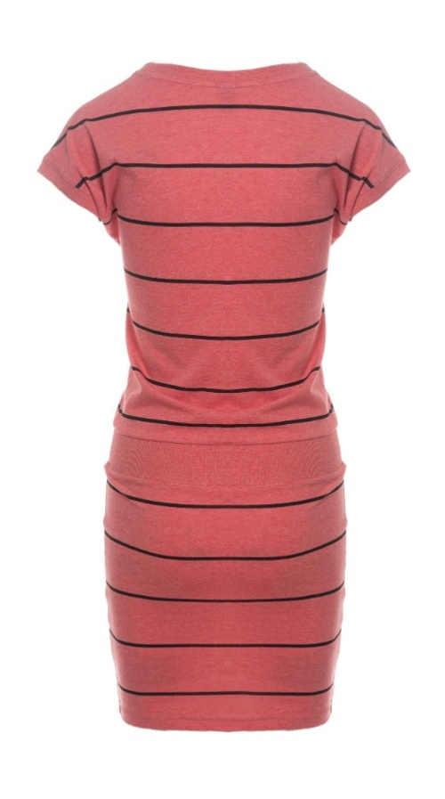 proužkované šaty s krátkým rukávem