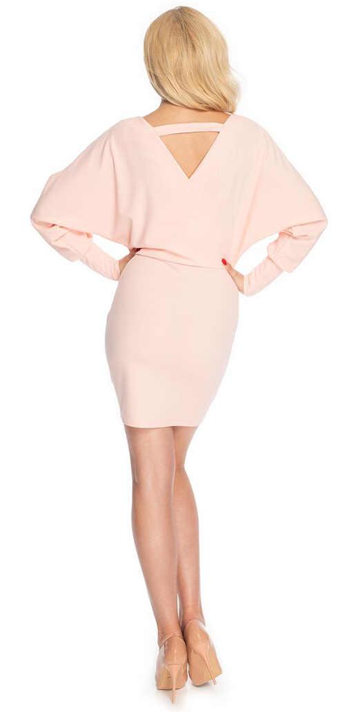 růžové dámské mini šaty