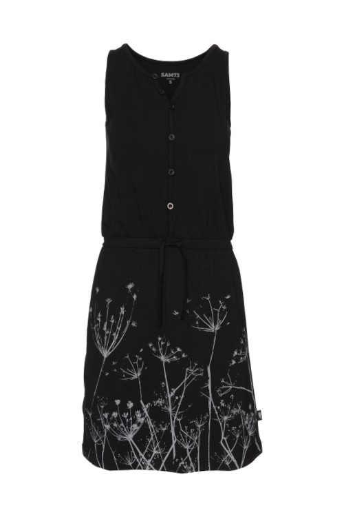 černé dámské krátké šaty bez rukávů