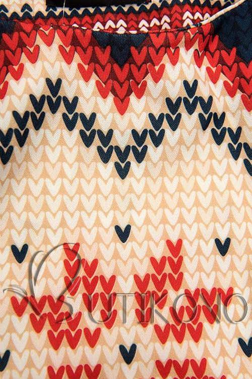 vzorované zimní dámské šaty