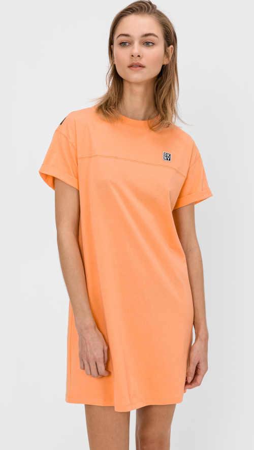 bavlněné šaty dkny volného střihu