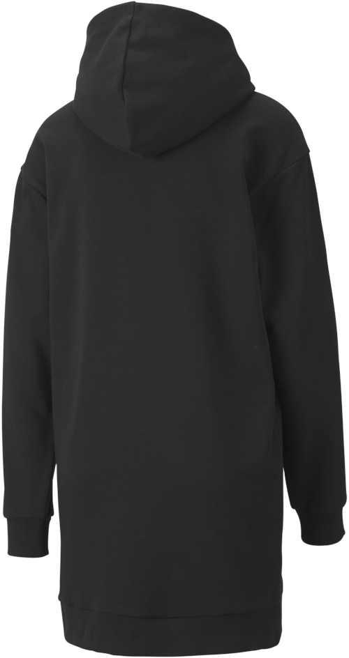 dámské mikinové černé šaty s kapucí