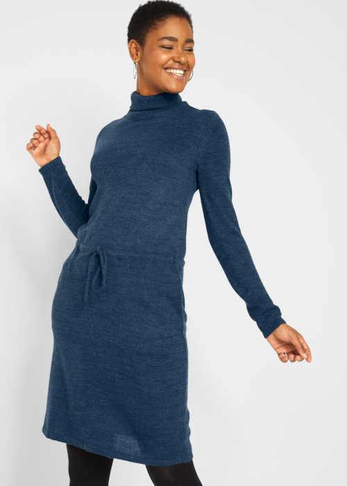 dámské pletené šaty s páskem