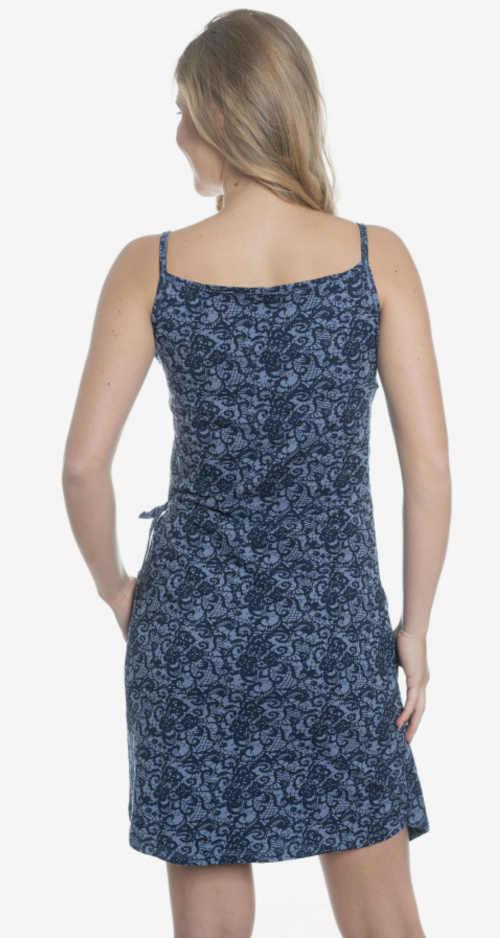 elegantní šaty na ramínka s potiskem