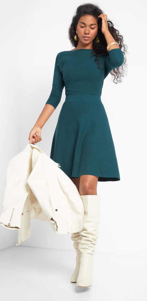 elegantní úplé žerzejové šaty